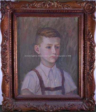 signatura  nečitelná - Portrét chlapce