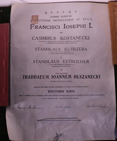 Čechy 1. pol. 20. stol. - Diplom s pečetí