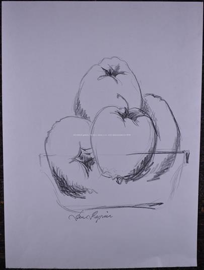 Jan Rapin - Zátiší s jablky