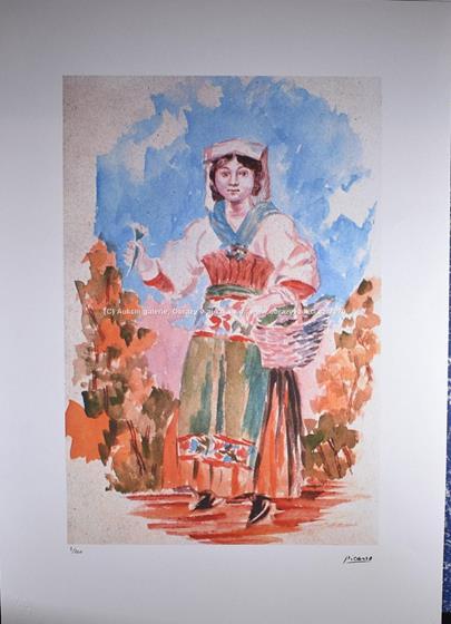 Pablo Picasso - Dívka s květinou