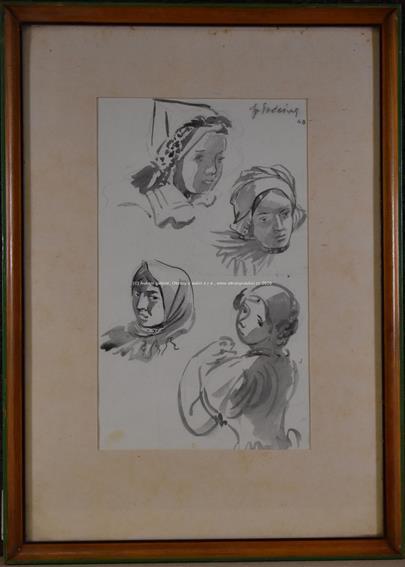 František Podešva - Skicy žen