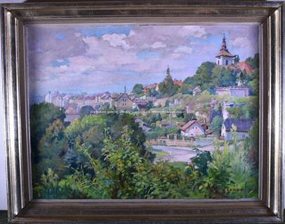 Karel Schadt - Viničná ulice v Mladé Boleslavi