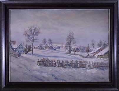 Ferdinand Tásler - Vesnice pod sněhem