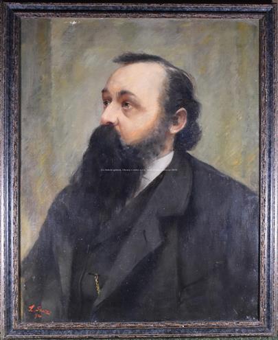 Signováno nečitelně - Portrét muže s plnovousem