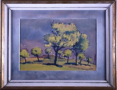 Lev Šimák - Krajina se stromy