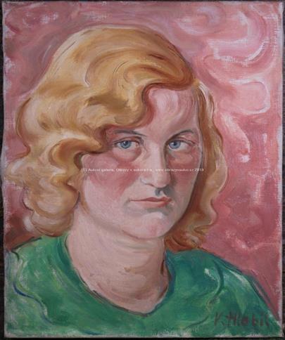 Vilém Hlobil - Žena s plavými vlasy