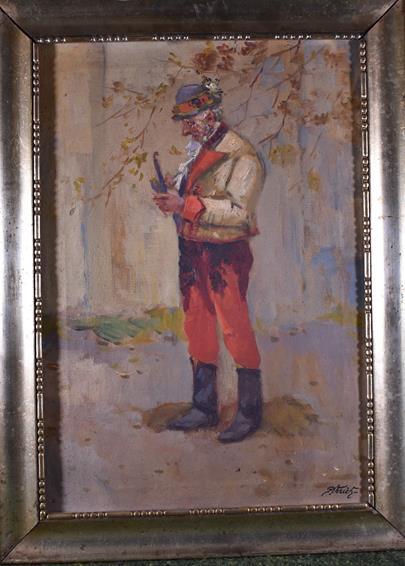 J. Verich - Krojovaný muž s dýmkou
