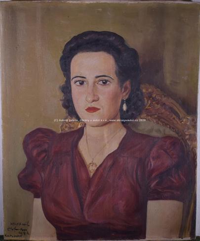 Vlastimil Hofman - Portrét dámy
