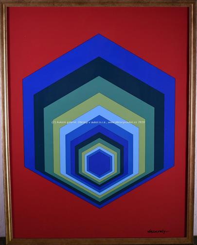 Victor Vasarely - Hexagon