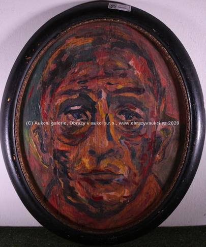 monogramováno O.K. - Portrét muže
