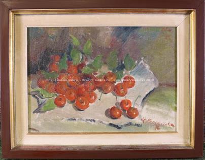 Karel Procházka - Zátiší s třešněmi