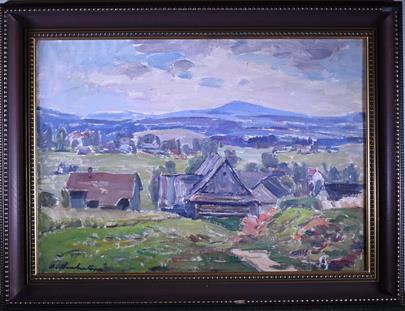 Maryša Neubertová - Pohled na vesnici