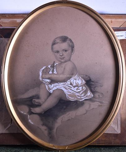 Albert Fulda - Dítě na kožešině