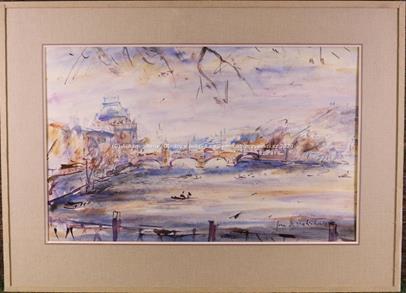 Jan B. Melichar - Vltava z Karlova mostu