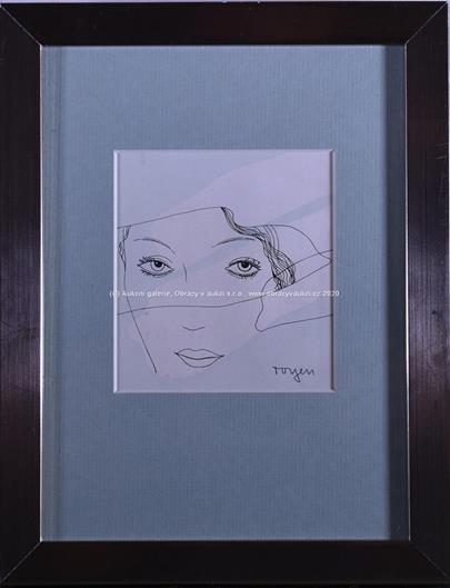 Toyen - Dívka s něžnýma očima