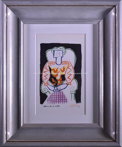 Pablo Picasso - Dáma v křesle