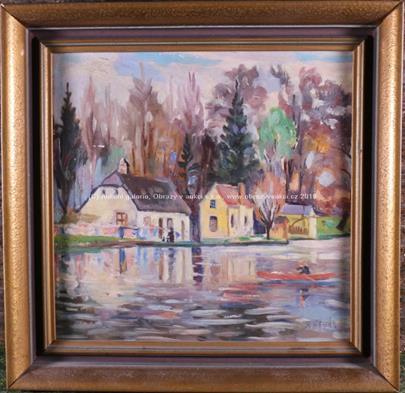 František Řehák - Domy u řeky