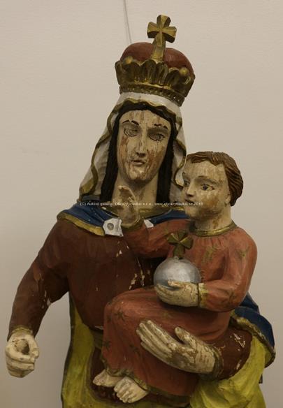 střední Evropa konec 19. století - Madona s Ježíškem - 118 cm