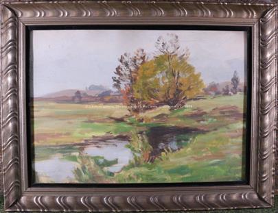 Gustav Macoun - Tůňka v podzimní krajině