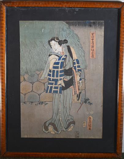 Kunisada - Dáma se saké
