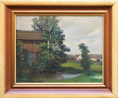 Gustav Macoun - Podvečerní vesnice