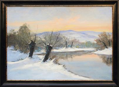 Alois Kalvoda - Vrby u potoka