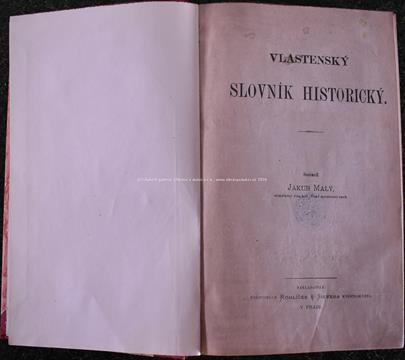 Jakub Malý - Vlastenecký slovník historický