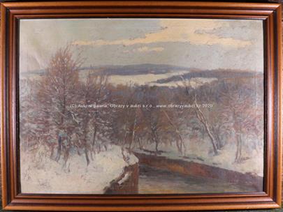Moravec - Zima u řeky