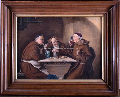 podle Eduadra von Grütznera - Hodující mniši (V klášterní taverně)