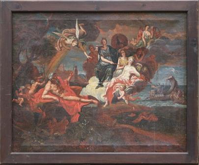 evropský malíř 18. stol. - Antičtí bohové na hoře Olymp