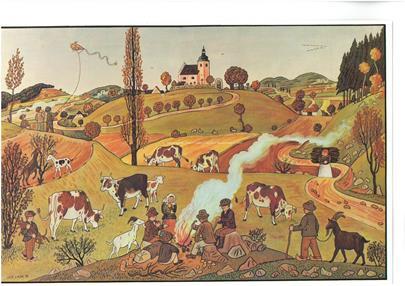 Josef Lada - Dětské hry na podzim