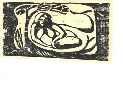 Paul Gauguin - Femme couchée sous un arbre