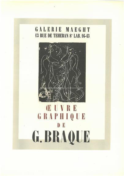 Georges Braque - Plakát - Ceuvre Graphique