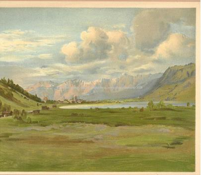 Jan Nowopacký - Soubor 5 grafických listů - Alpská jezera