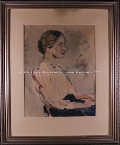 nesignováno - Sedící žena