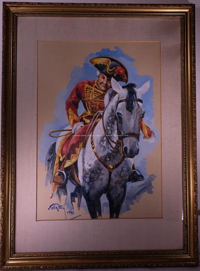 signatura nečitelná - Generál na koni