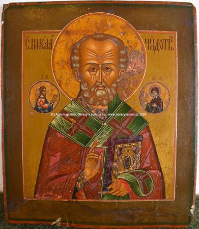 Rusko konec 19. stol. - sv. Mikuláš Mirský
