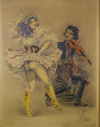 Jaroslav Štika - Tanečnice s houslistou