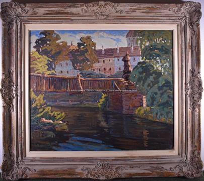 Václav Radimský - Řeka u zámku