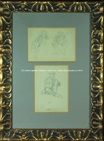 Alfons Mucha - Dvě kresby