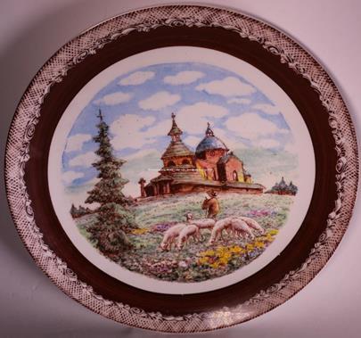 Kudělka Valašsko - Kaple na Radhošti - talíř