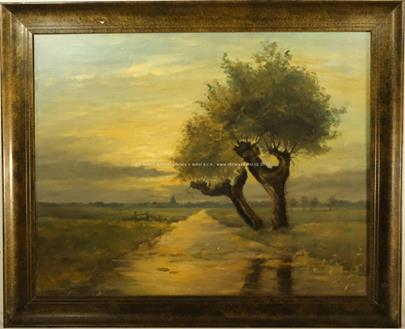 Ferdinand Engelmüller - Vrby při západu slunce