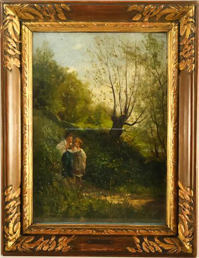 Václav Brožík - Děti v trávě