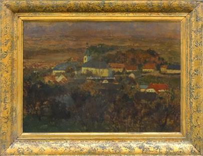 Antonín Slavíček - Pohled na Potštejn