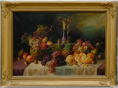 F. Fert - Zámecké zátiší s ovocem - VELKÝ FORMÁT