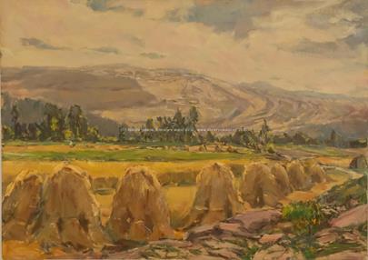 Jaroslav Peregrin Kloc - Pod hlučínským kopcem o žních (Měnín na Moravě)