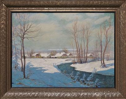 Alois Kalvoda - Zimní krajina