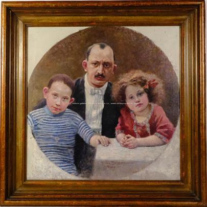 Vlaho Bukovac - Rodinný portrét