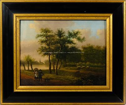 středoevropský malíř kolem pol. 19. stol. - Na cestě