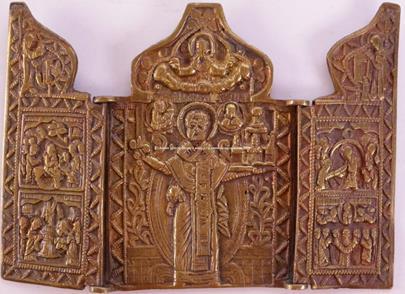 Rusko 19. stol. - Skladeň se sv. Mikulášem Divotvůrcem Možajského